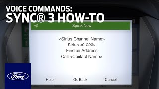 Download SYNC 3 Voice Commands | SYNC 3 How-To | Ford Video