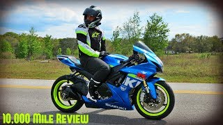 Download GSXR750 10,000 Mile Review (16,000 km) Video