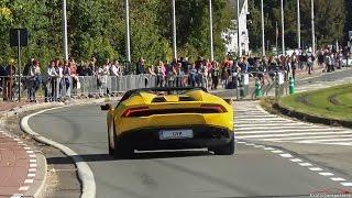 Download Supercars Accelerating ! 2x F12 TDF, R8 LMS, Scuderia, 2x Aventador SV, 5x 991 GT3RS,... Video