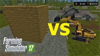 Download Farming Simulator 17/ BALE HOUSE VS CAT EXCAVATOR Video