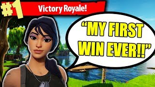 Download HELPING AWESOME KID WIN *FIRST EVER* GAME IN FORTNITE BATTLE ROYALE!!!! Video