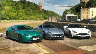 Download DB11 vs Vanquish S vs V12 Vantage S: Aston Martin Shootout Video