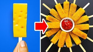 Download 34 DELICIOUS FOOD HACKS WITH CHEESE AND OTHER GOODIES Video