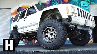 Download Jeep XJ Gets Lifted on 33s. Off Road Camera Chase Vehicle Build! Video