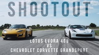 Download Shootout: Chevrolet Corvette Grand Sport vs. Lotus Evora 400 Video