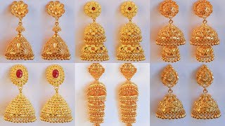 Download Latest GOLD PINJARA JHUMKA EARRINGS designs with WEIGHT & PRICE Video