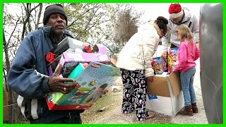 Download HANDING OUT TOYS FOR CHRISTMAS! Video