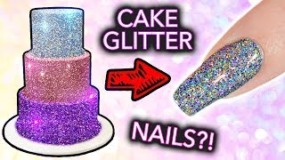 Download Putting CAKE GLITTER on NAILS? (+ ″edible″ Diamond Cappuccino EXPOSED) Video