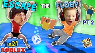Download ROBLOX FLOOD ESCAPE Pt.2! Try Not To Drown Challenge w/ FGTEEV Duddy & Chase #21 Video