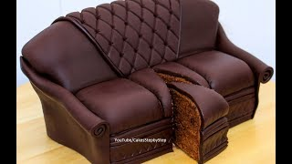 Download Chocolate Sofa Cake by Cakes StepbyStep Video