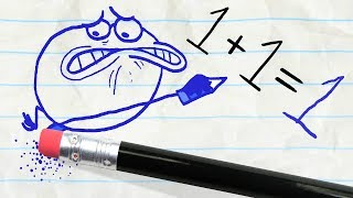 Download The Pencil teaches Pencilmate a lesson -in- THE GRAPES OF MATH Video