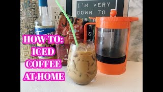 Download HOW TO: ICED COFFEE AT HOME COLD BREW RECIPE Video