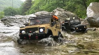 Download RC : TRX4 Defender D110 Pick-up & Xtra Speed D90(Rainy Day driving :-D). Video