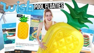 Download TRYING POOL FLOATIES FROM WISH!! Video