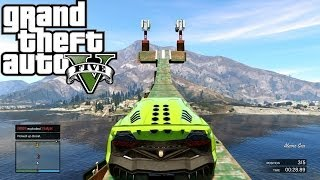 Download GTA 5 ONLINE Stunting ( Epic Lake Jump ) ( Fun Custom Race ) GTA V MULTIPLAYER Video