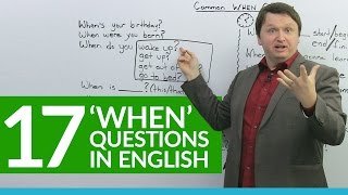 Download 17 Common ″WHEN″ Questions in English Video