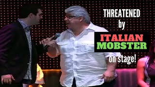Download Hypnotist Marc Savard threatened by Italian mobster on stage! Video
