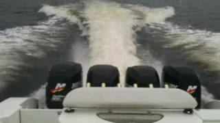 Download Worlds Fastest Offshore fishing boat (38 Fountain with quad 300 Mercury Optimax) Video