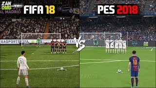 Download FIFA 18 vs PES 2018 Gameplay Comparison Video
