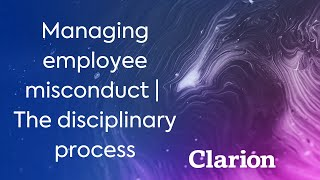 Download Managing employee misconduct | The disciplinary process Video