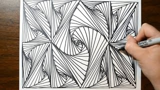 Download Cool Sketch Doodle Technique - Drawing a Random Pattern Video