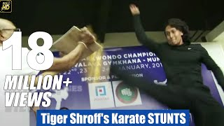 Download Tiger Shroff's Karate STUNTS Training In Public Video