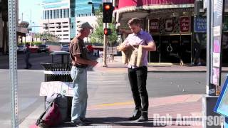 Download Magician Rips Up Homeless Mans Sign! Video