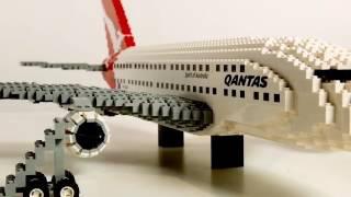 Download Qantas A380 built with LEGO Video