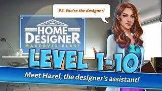 Download Home Designer - Blast Match Makeover level 1 - 10 [ Gameplay Story ] HD Video