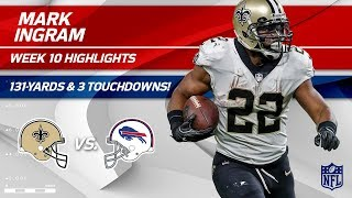 Download Mark Ingram's Breakout Game w/ 3 TDs & 131 Yards! | Saints vs. Bills | Wk 10 Player Highlights Video