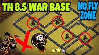 Download TH 8.5 / 8.75 NO FLY ZONE ANTI 3 STAR WAR BASE + REPLAYS | TH8.5 / TH8.75 | ALL ANTI |CLASH OF CLANS Video