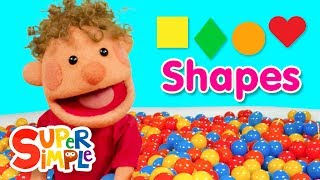 Download Super Duper Ball Pit | Learn About Shapes #2 | Square, Diamond, Circle, Heart Video