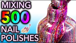 Download Mixing my 500 HOLO Nail Polishes Together! What Will Happen?! Video