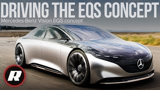 Download Driving the lovely Mercedes-Benz Vision EQS concept in Japan Video