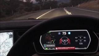 Download Tesla Autopilot winding country road sleeping Video