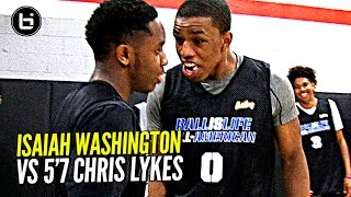 Download Isaiah Washington & 5'7 Chris Lykes Try To OUT JELLY Each Other!! Exciting PG Duel at BILAAG!!! Video