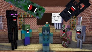 Download Monster School : Zombie Girl New Student (mob) - Minecraft Animation Video