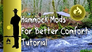 Download Hammock mods that give a superior comfort and sleep/ tutorial Video