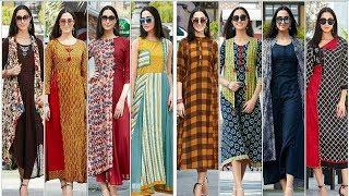 Download Designer Long Party Wear ,Stylish Fancy Long Double Layer Kurti Kurta For women's Trendy India 9 Video
