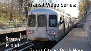Download TVS-Staten Island Trains: Grant City SIR Station At Peak Hour Video