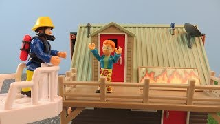 Download Fireman Sam Toys Episode 10 Norman Fire at Mountain Lodge Toy 2018 Firefighter Sam Fire Station Video