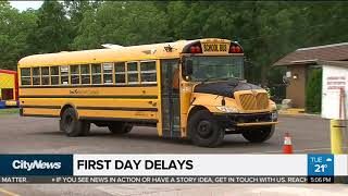 Download Hundreds of school bus delays reported on 1st day back Video