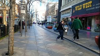 Download Denver, CO 16th Street Mall Downtown + Union Station Winter Walk - 2017 4K UHD Video
