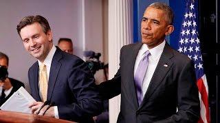 Download Obama surprises press secretary Video