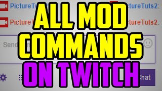 Download Twitch Moderator Tutorial - ALL Mod Commands On Twitch TV (delete messages, ban, unban, clear chat) Video
