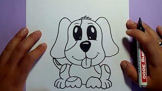 Download Como dibujar un perro paso a paso 23 | How to draw a dog 23 Video