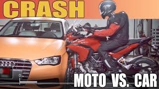 Download Moto vs. Car - CRASH TEST - 2015 Ducati Multistrada vs. Audi A3 Video