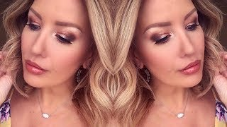 Download WARM AND GLOWY SUMMER MAKEUP TUTORIAL FOR DAYTIME OR DATE NIGHT Video