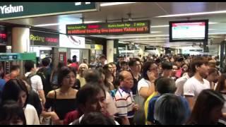 Download Crowd leaving Yishun MRT station Video