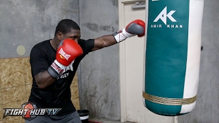 Download Andre Berto looking sharp, powerful and fast on bag ahead of potential Shawn Porter fight Video